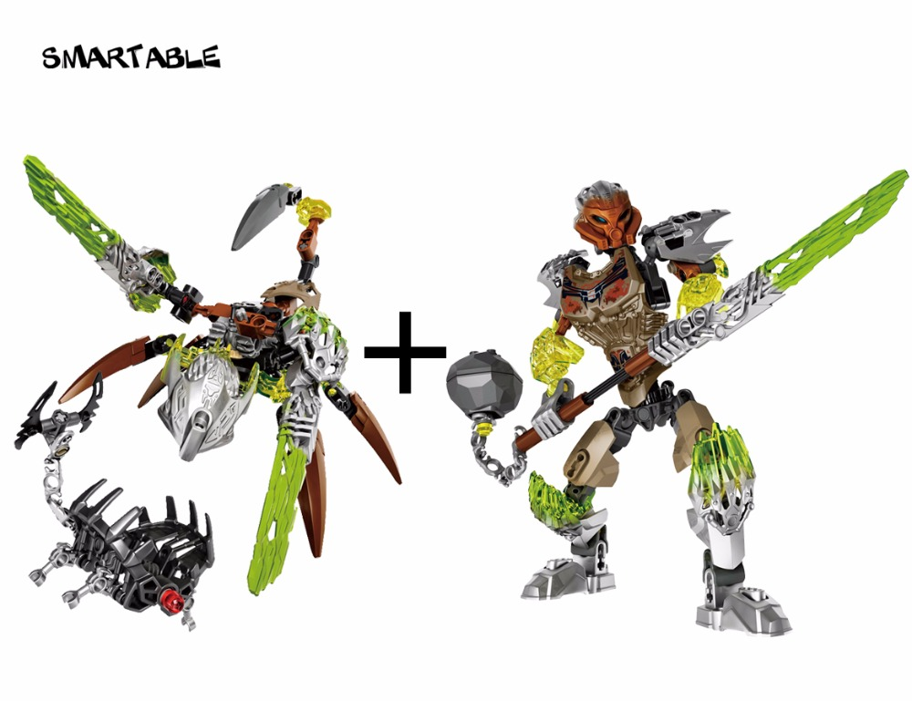 Smartable BIONICLE Ketar Creature of Stone+Pohatu Stone Land Guardian 609-2+610-2 Building Block toy Compatible legoing BIONICLE
