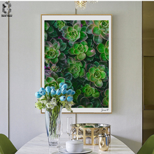 Fresh Succulent Plants Canvas Prints Wall Art Painting Wall Picture Posters for Living Room Home Decor