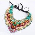 Collares largos/rainbow rosário/mala slipknot colar étnica colarinho senhoras/max falso colar collier femme/bisuteria/joyeria
