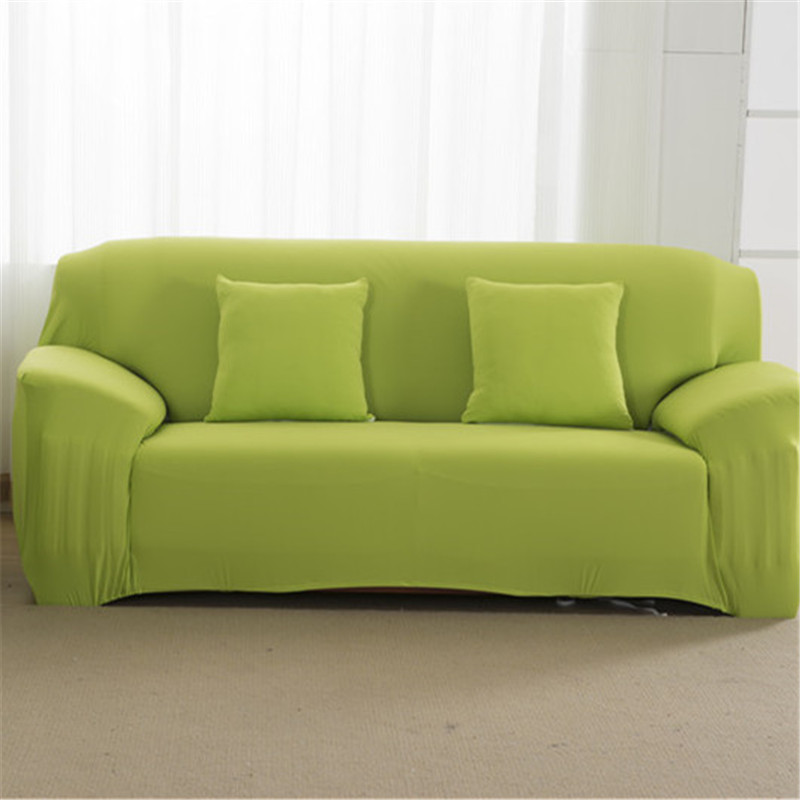 Solid Color Elastic Couch Cover made of Stretchable Material for Singe to 4 Seated Sofa in Living Room 23