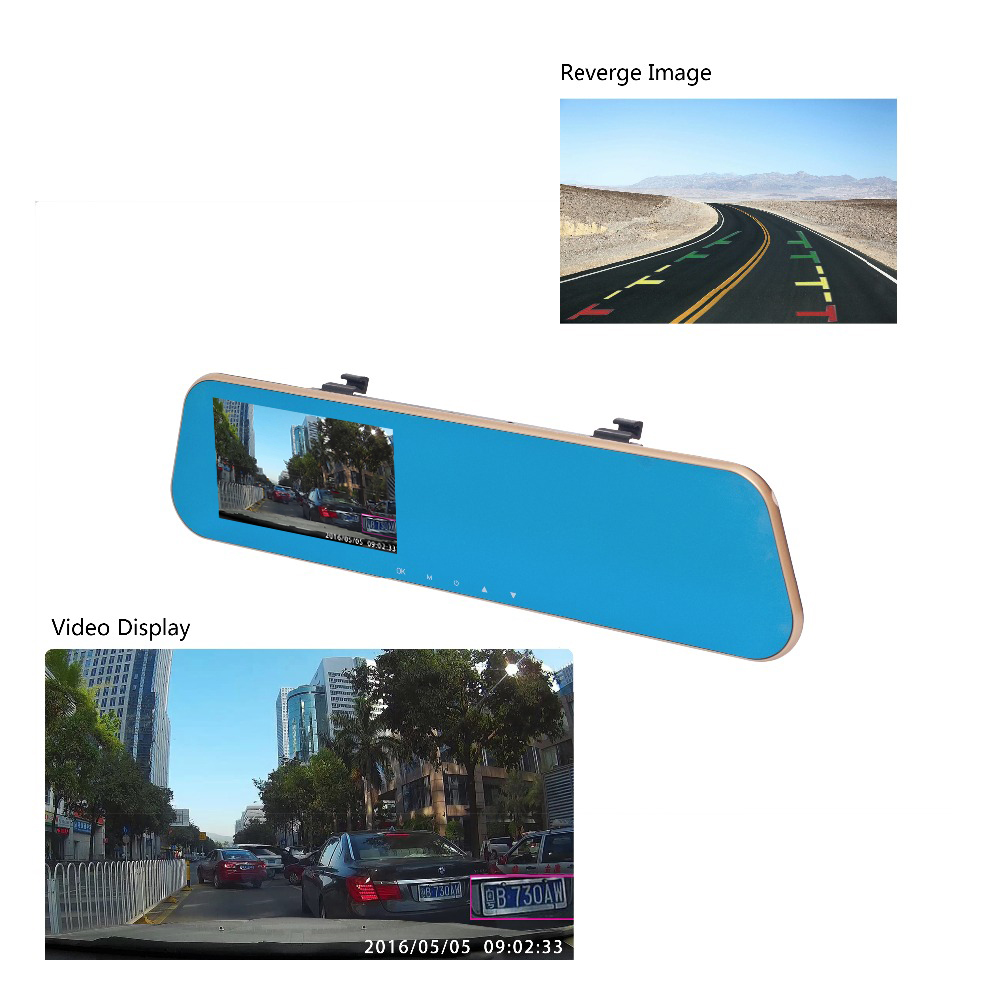 ADDKEY, Новейшая автомобильная DVR камера, зеркало заднего вида, двойной объектив, видеорегистратор, видео регистратор, видеокамера Full HD 1080 p, ночное видение, Автомобильные видеорегистраторы