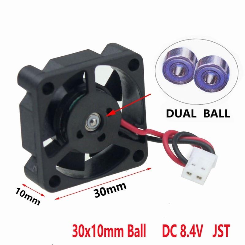10 Pcs Gdstime 3010 30x30x10mm 30mm 3cm DC 8 4v Dual Ball Bearing White JST Brushless
