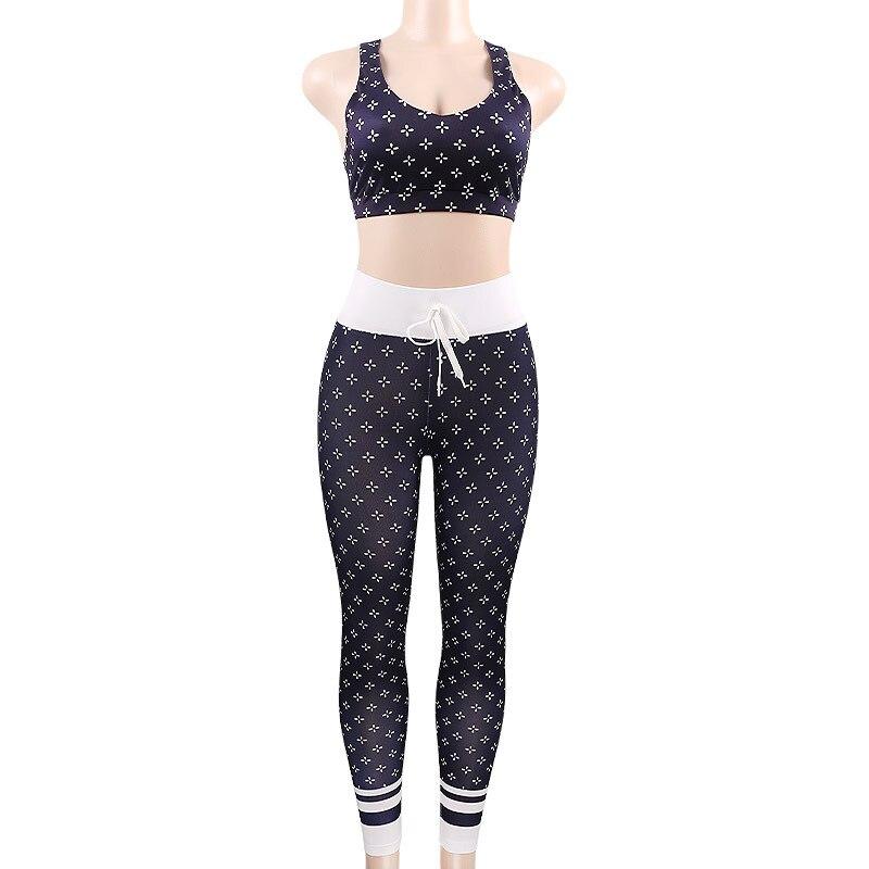 1c657d8f909c5 PENERAN 2018 Print Sport Suit Woman Sportswear Fitness Gym Yoga ...