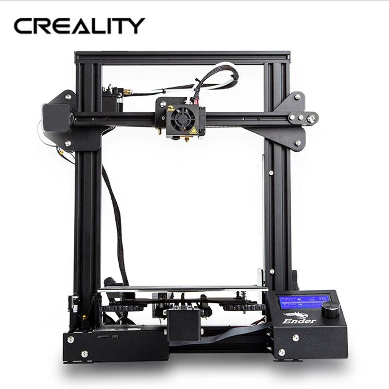 Creality 3d Ender-3 pro impressora 3d/placa retomar a impressão de falha de energia kit diy meanwell power//transporte expresso de moscou