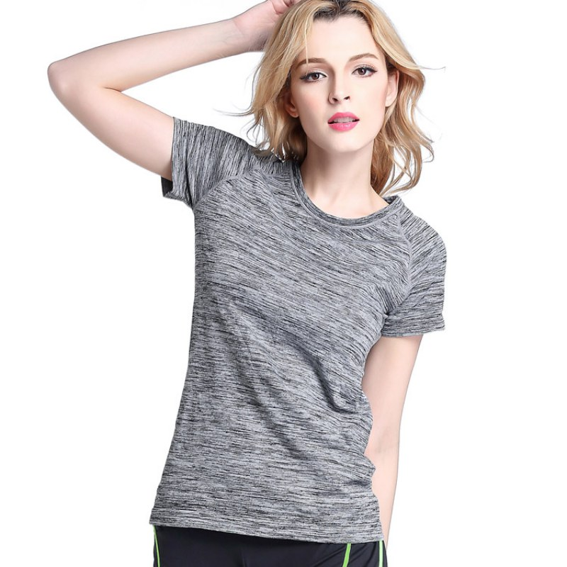 Professional Women Sports T Shirt For Yoga Fitness Running Jogging Gym Quick Dry Sweat Breathable Exercises Short Sleeve Tops
