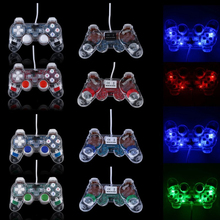 xunbeifang 8pcs Double Shock Joypad Transparent USB2 0 PC Vibration Controller GamePad Joypad For PC Laptop