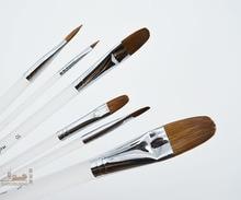 6pcs/Set,High Quality weasel hair Organic rod Watercolor Acrylic Gouache painting brush paint brush art supplies brush pen