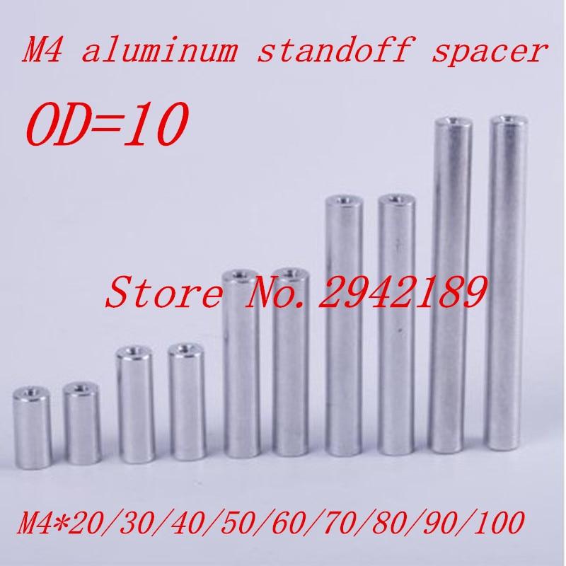 10pcs/lot M4*20/30/40/50/60/70/80/90/100 aluminum round spacer standoff m2 5x21mm 22mm 23mm 25mm 30mm 35mm 37mm 40mm 10pcs lot six corner spacer hexagonal aluminum column standoff post screws