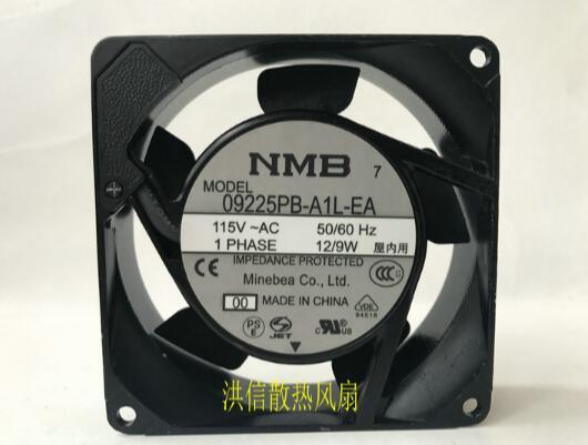 Wholesale: original NMB 9025 09225PB-A1L-EA 115V 50/60 12 / 9W silent aluminum frame fan