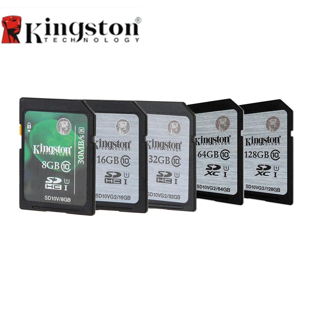 Kingston 2 шт./лот карты памяти SD 8 ГБ 16 ГБ 32 ГБ SDHC SDXC UHS-я Flash HD видео class10 45 м/с памяти SD для Камера PC мобильного телефона