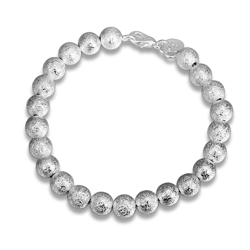 SANTIYAGO 2017 annual new fashion sand beads bracelet lady silver bracelet girlfriend holiday party gift beautiful and delicate