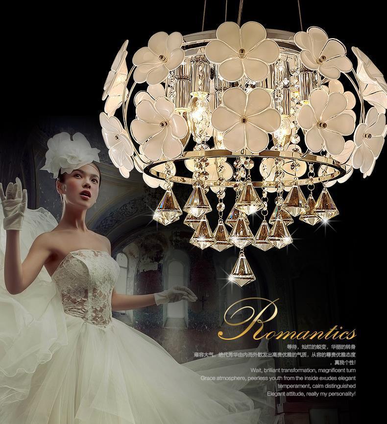 Tiffany E14 crystal chandelier lamps flush mount ceiling lamp light for living room bedroom 45*30cm AC110V 220V