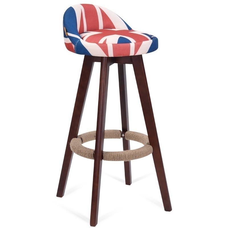 WB#8137 wood rotating bar backrest stool chair in front of American minimalist Retro FREE SHIPPING стоимость