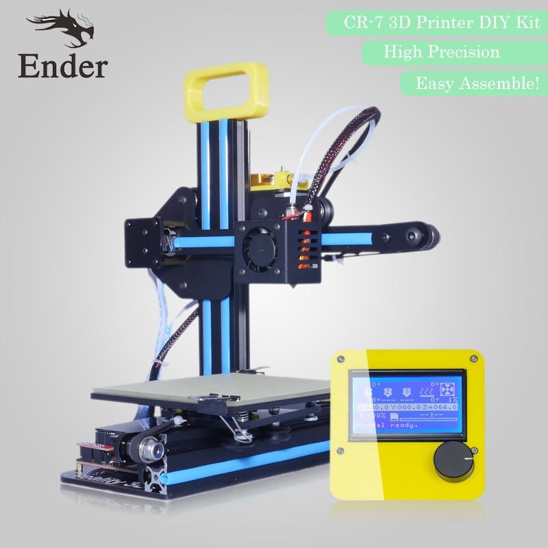 2018 Hot Sale 3D printer CR-7 Reprap prusa i3 print Mini 3D printer KIT DIY with filament+8G SD Card Creality 3D newest mini creality 3d full aluminium structure cheap mini cr 7 3 d printer diy kit easy assemble 3d printer filament sd card
