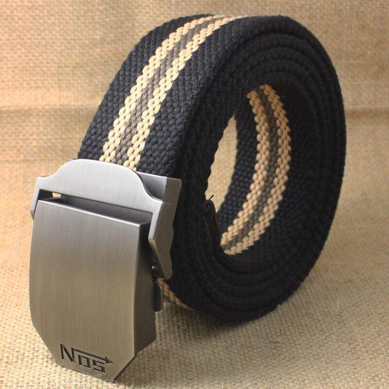 Лучший YBT унисекс тактический ремень, высокое качество, 4 мм, толщина 3,8 см, широкий, Повседневный, Холщовый ремень, для улицы, сплав, автоматическая пряжка, мужской ремень - Цвет: D Black stripe
