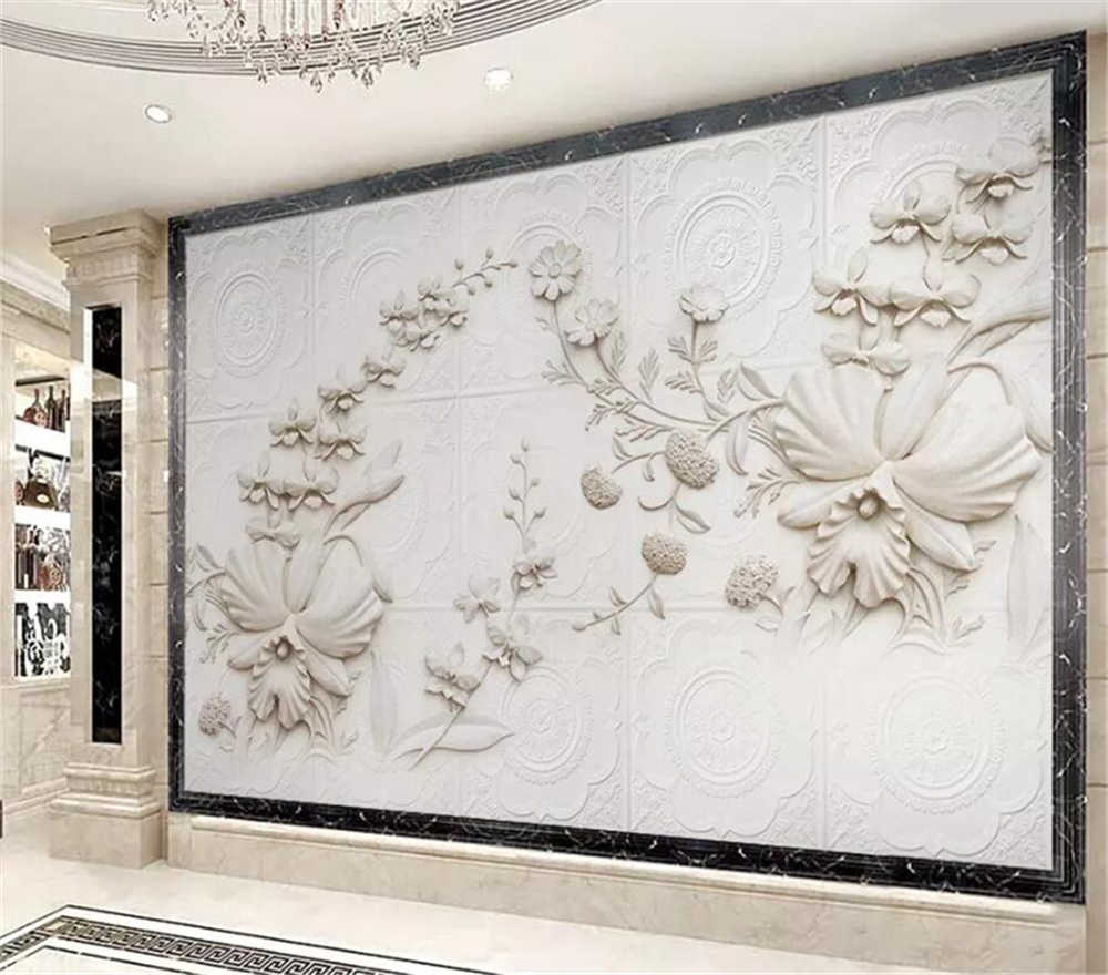 Декоративные обои 3D рельеф Орхидея фон настенная живопись