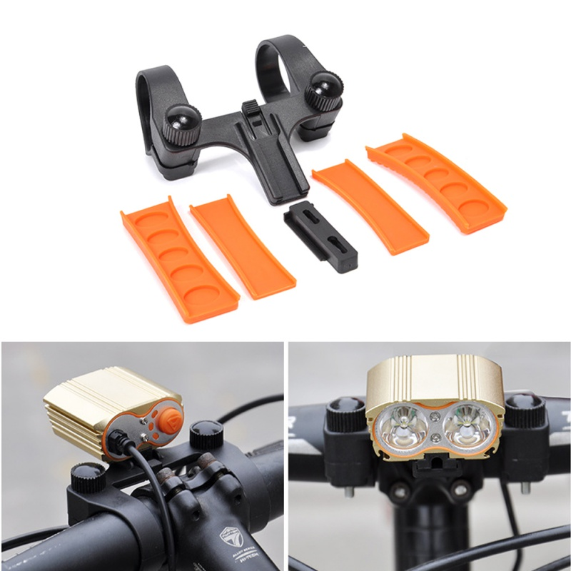 Bicycle Headlight Holder Bikes <font><b>Flashlight</b></font> Rack MTB Bike Light <font><b>Mount</b></font> Bracket Clip Anti-slip Torch Holder Bikes Lights Stand image