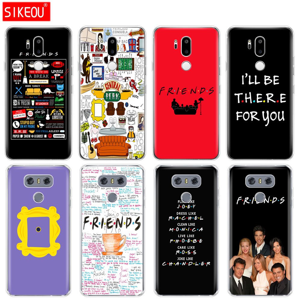 silicone case phone cover for LG G7 Q8 Q6 G6 MINI G5 V30 V7 V9 k10 k8 X POWER 2 Friends TV Show Series Sitcom image