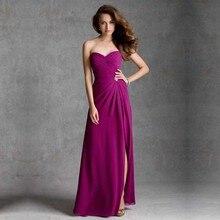 Sexy Elegant Fashion vestido de dama de honra Sweetheart Beaded Leg Split Long A-Line Bridesmaid Dresses 2016