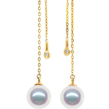 Eternal wedding Women Gift word 925 Sterling silver real Shipping counters with a natural pearl    earrings earrings genuine