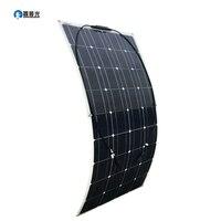 100 Вт Панели солнечные 18 В 36 ячеек новое качество полу гибкие монокристаллического модуль для 12 В Батарея RV яхты автомобиль дома Зарядное ус