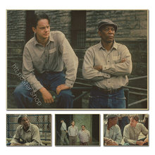 The Shawshank Redemption retro Poster vintage prints home bar decor classic movie poster decorative painting
