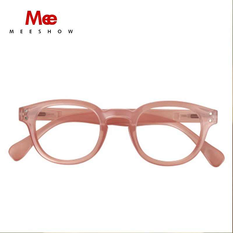 MEESHOW Reading glasses women PINK retro glasses frame vintage glasses Men unisex gafas USA reading glasses 1513 +1.0 +1.5 +2.0