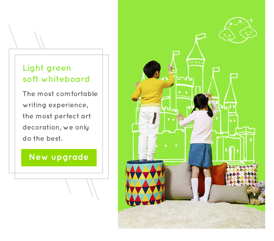 930_01 New creative ferrous whiteboard DIY Green board Message Board waterproof Wall Sticker 150 cm x 100 cm x 0.6 mm