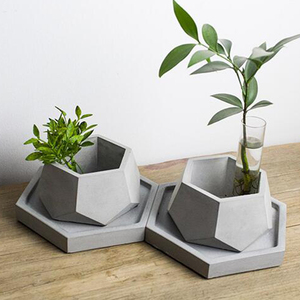 Image 1 - Geometric Concrete Planter Mold  Silicone Mould Handmade Craft Home Decoration Tool