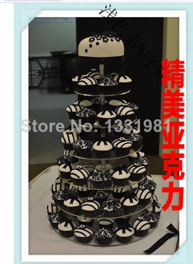 Couche 7 Européenne acrylique grille à gâteau de mariage d'anniversaire banquet tasse gâteau décoration collation produits acrylique cupcake stand