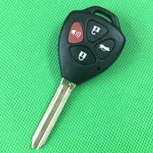 10 шт./лот 3 + 1 Кнопки Дистанционного Ключа Обложка Пустые Ключи Брелок Чехол, Пригодный Для Toyota Camry Toy43