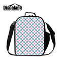 Dispalang unique design geometric pattern lunch bag pouch storage lunch box fashion cooler bags for teenagers students meal bags