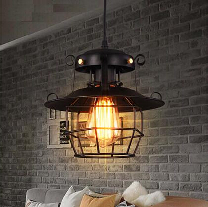Retro Loft Style Edison Industrial Vintage Pendant Lights Hanging Lamp Fixtures For Bar Home Living Room Lamparas Colgantes loft industrial vintage pendant lights edison glass lampshade fixtures for bar home lightings hanging lamp suspension luminaire