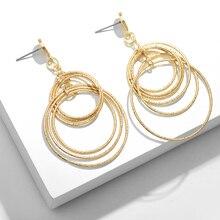Boheme Double Round Womens Earrings