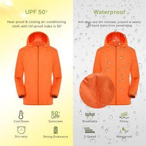 Image 3 - Куртка для кондиционирования воздуха водонепроницаемая одежда для защиты от УФ USB охлаждающая вентиляторная куртка для улицы с высокой температурой