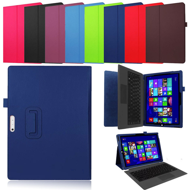 Funda de cuero PU para Microsoft Surface Pro 4 Flip Stand Cover Funda inteligente para Surface Pro 4 tableta de 12,3 pulgadas ordenador portátil caso