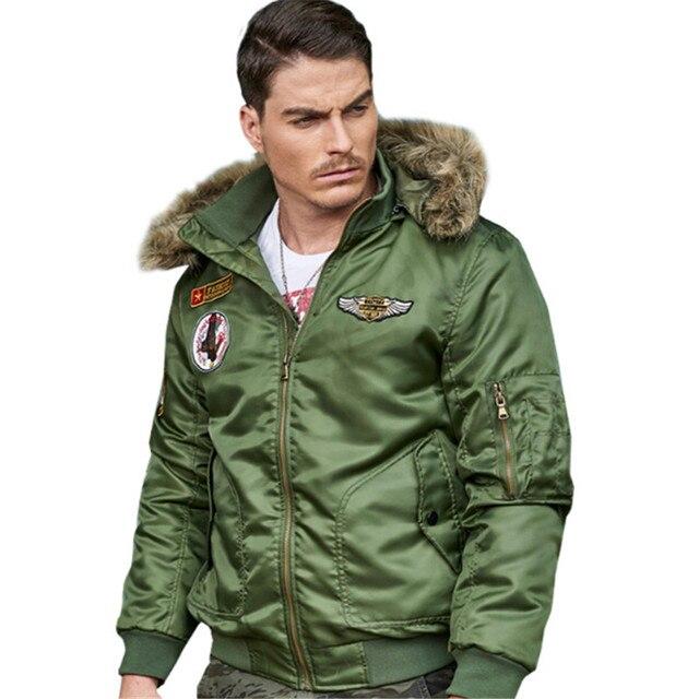 97f93c393ca08 Nen Ma-1 Aviator cappotto invernale da uomo esercito Militare soldato Air  force one del