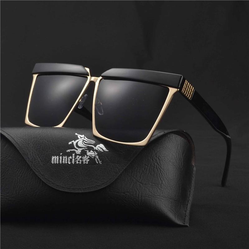 ba9eebae38aee MINCL 2017 Metade do Quadro Óculos De Sol Das Mulheres Dos Homens Óculos de  Sol
