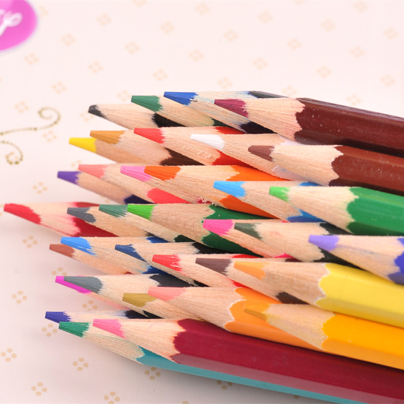 12 Colored Pencils Set Wooden Color Pencil Soft Core Artist Manga Finecolour for Art Supplies Markers Stationery Free Shipping