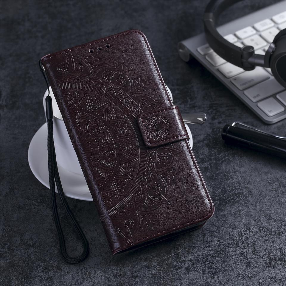3D Flower Emboss Pattern Leather Case For Samsung Galaxy A8 2018 Cover Wallet Flip Pouch PU Holster Shell On Phone Cases Fundas