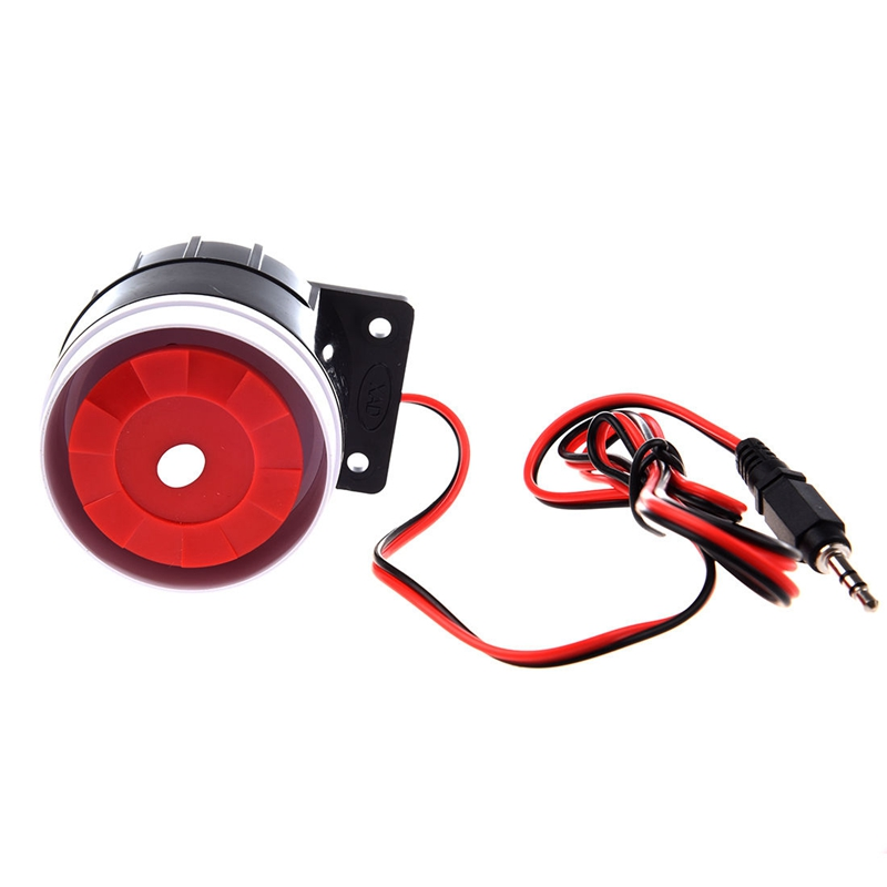 Wire Loud Horn Security Alarm Siren 12V DC 95dB Speaker For Burglar Alarm System 120db loud security alarm siren horn speaker buzzer black red dc 6 16v