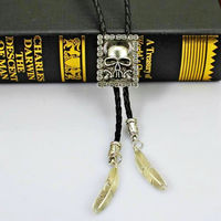 Bull Horse Skull Pattern Alloy Boloties Ameircan Cowboy Necklace Party Club Fashion 2015 Designer Bolo Necktie