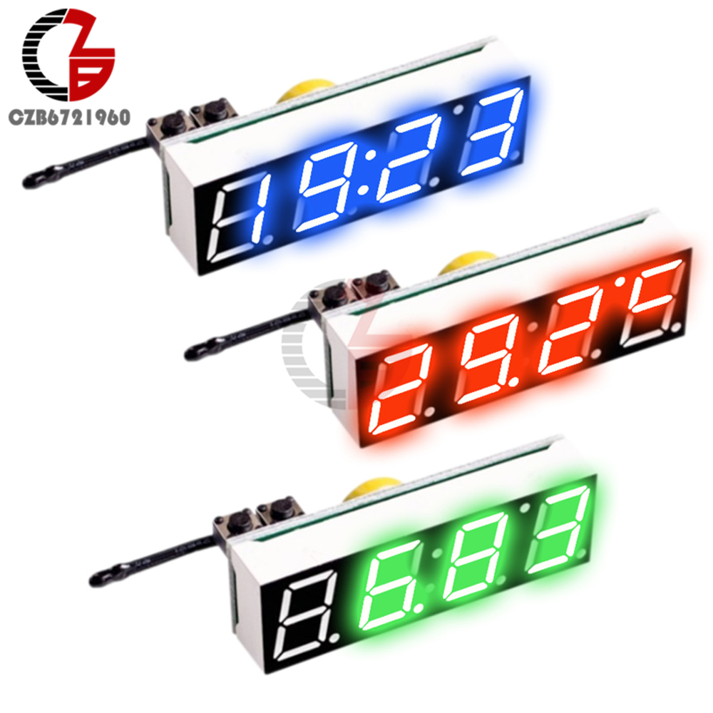 Dual thermometer digital LED Temperatur Anzeige 5v 12v 24v 48v 60v 72v Auto car