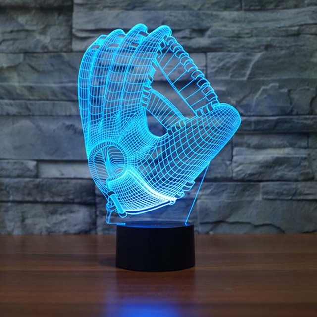Glove Night Light Pediatrics 7 Colors Changing Touch Button Led Table Lamps Night  Lights For Childrenu0027s