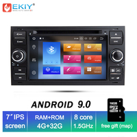 EKIY IPS 4G Android 9.0 Car DVD Navi Stereo Radio Audio Player For Ford Focus 2 Mondeo S C Max Fiesta Galaxy Connect Multimedia