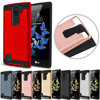 Hybrid Brushed Armor Case For LG K8V Dual Layer Impact Protective Soft TPU Rubber&Hard PC Back Cover For LG K8 V VS500 (Verizon)