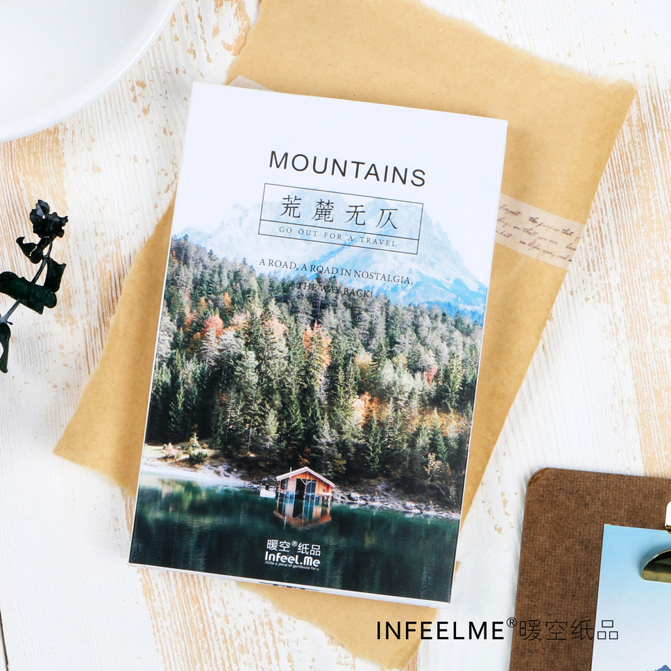 30 Sheets/LOT Majestic Mountains Postcard /Greeting Card/Message Card/Christmas And New Year Gifts