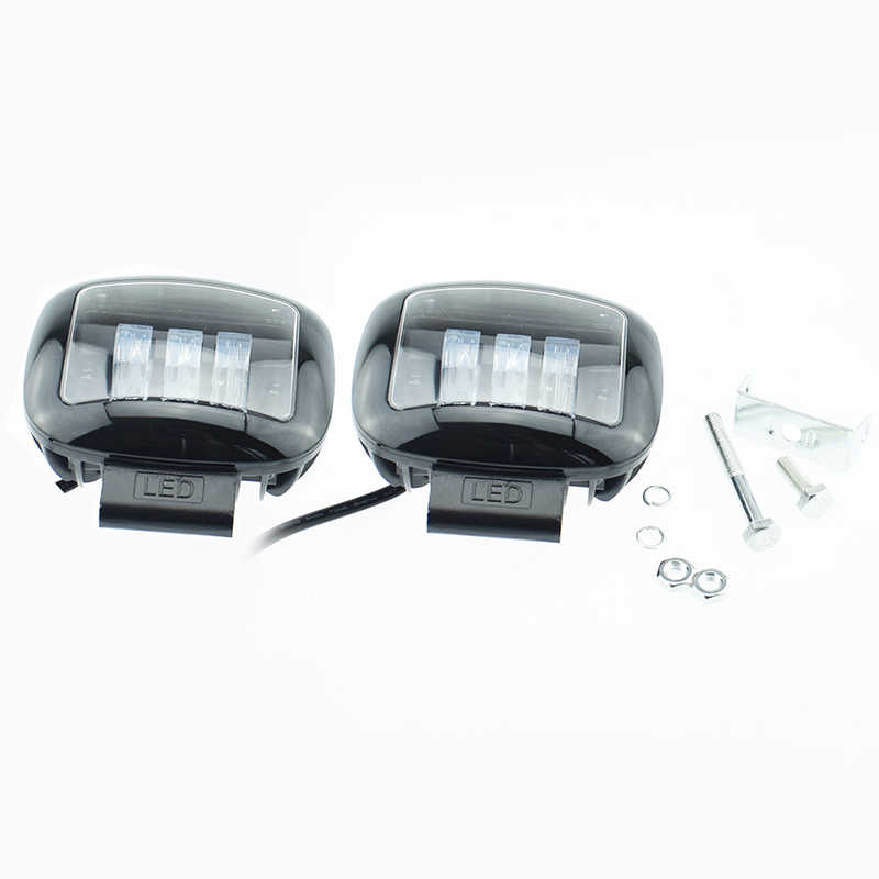 2 pcs Motorcycle headlamp white lighting 12v 50w/pair 6500K fog lamp motorbike LED headlight Motorbikes auxiliary working lights