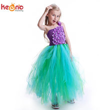 Girls Mermaid Tutu Dress Green Blue Purple Under The Sea Princess Inspired Children  Clothes for Birthday Halloween Tulle Dress 69a302eed7d2