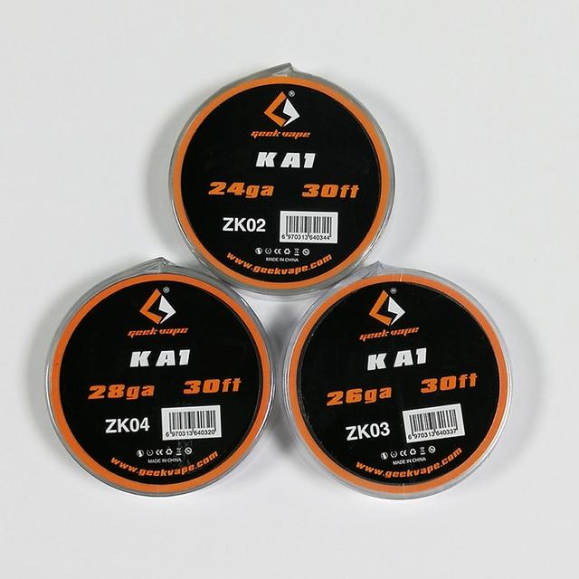 Năm 100% Ban Đầu Buồng Đốt Geekvape Dây Atomizer DIY kantha KA1 Băng Đường Kính Dây 24GA 26GA 28GA Thuốc Lá Điện Tử Phụ Kiện
